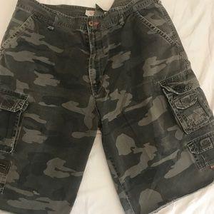PLUGG Mens Camo Shorts